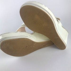 Coach Shoes - Coach Gypsy White Wedge Sandals Size 7.5